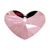 Crazy 4 U Heart 27mm Antique Pink Crystal